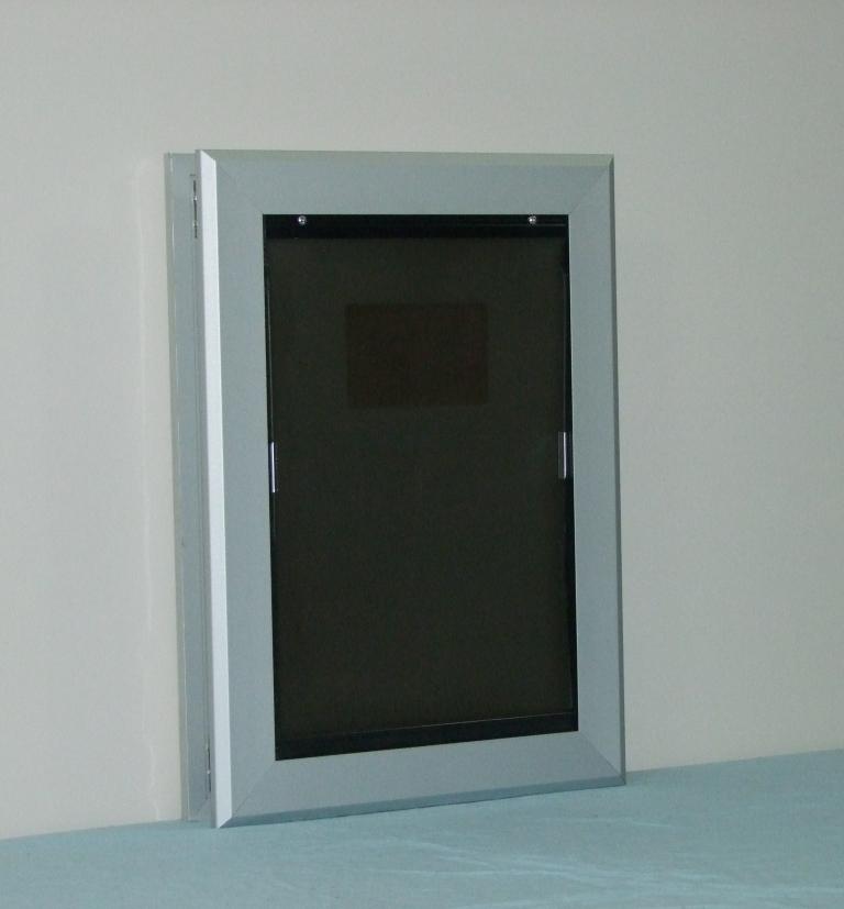 Anodized Aluminium Pet Door Medium Kumfi Kennels Kumfi Kennels